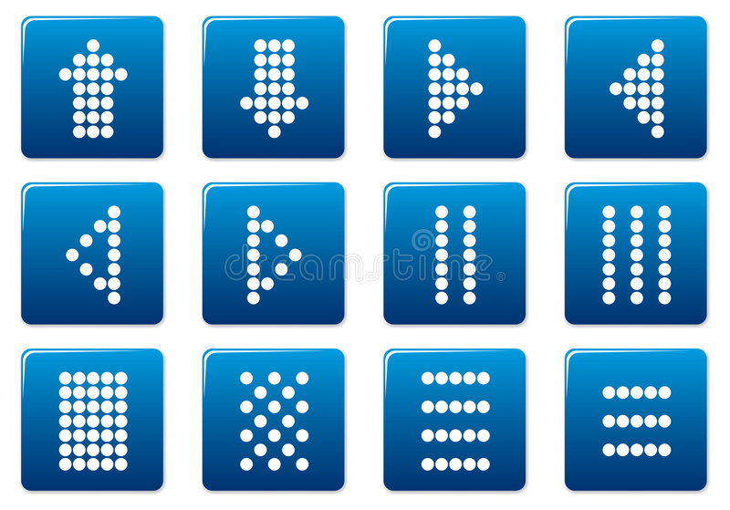 Download Symbols square icons set. stock vector. Illustration of button - 6508082