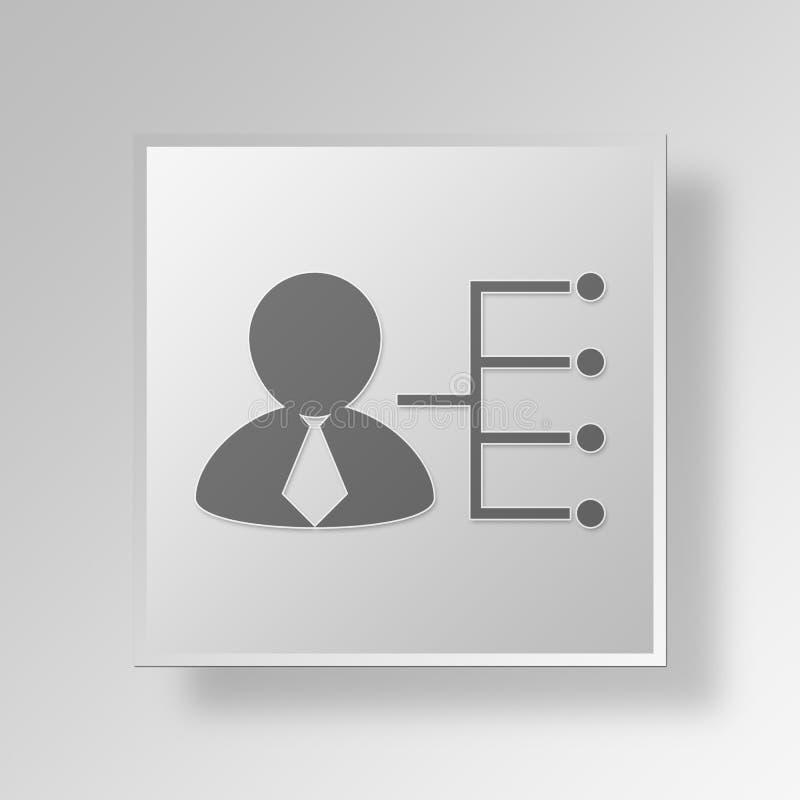 symbolsaffärsidé för delegat 3D royaltyfri illustrationer