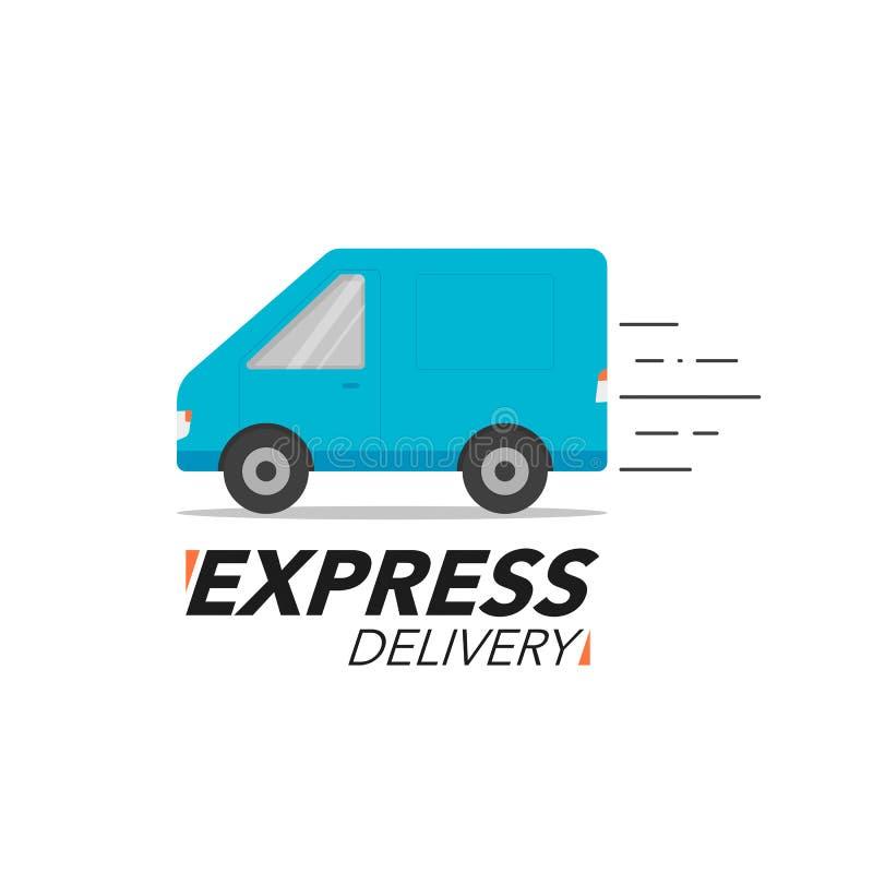 Symbolsbegrepp för uttrycklig leverans Skåpbilservice, beställning, världsomspännande shi vektor illustrationer