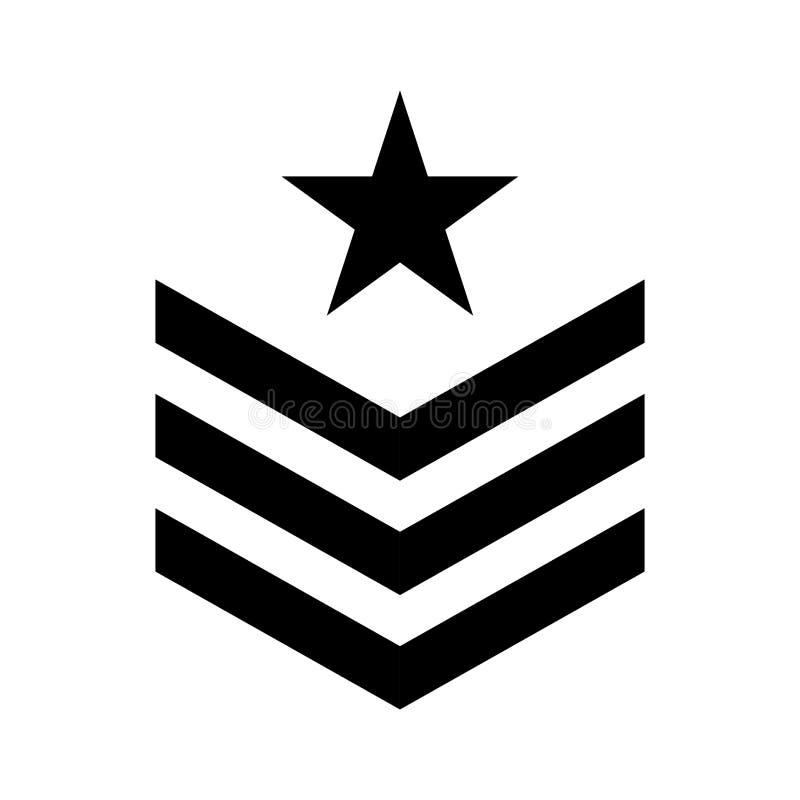 Symbolsbild för militärt symbol stock illustrationer