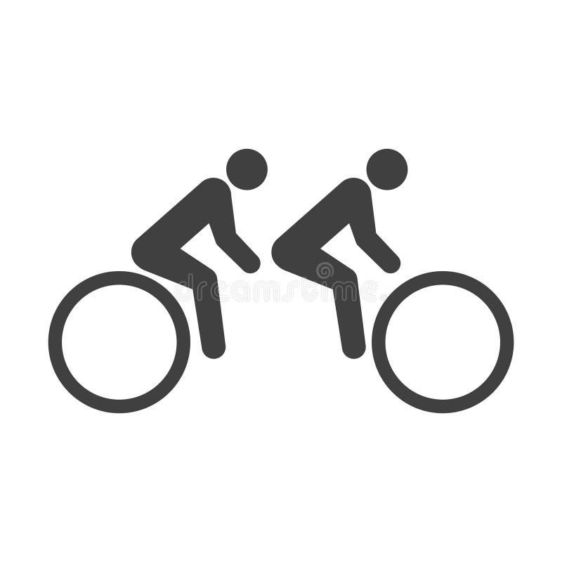 Symbolscykel för två passagerare Vektor p? vit bakgrund vektor illustrationer