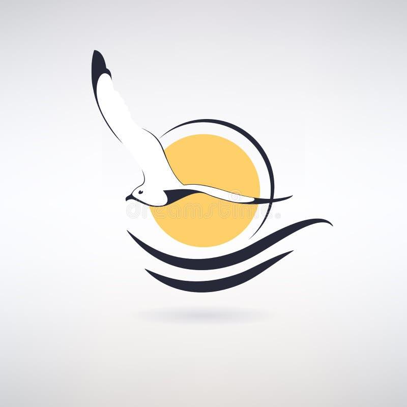 SymbolSeagull stock illustrationer