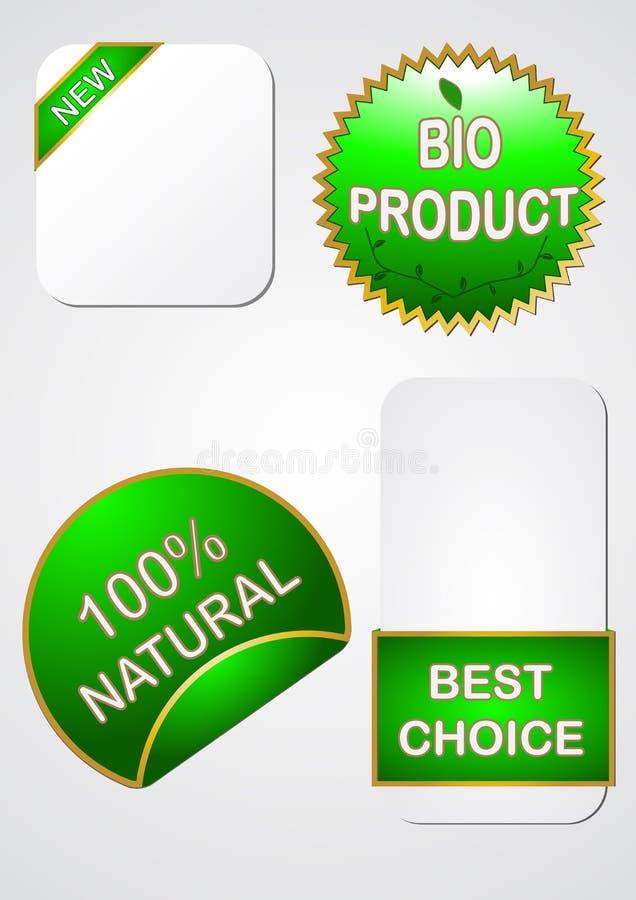 symbolsetikettförsäljning stock illustrationer