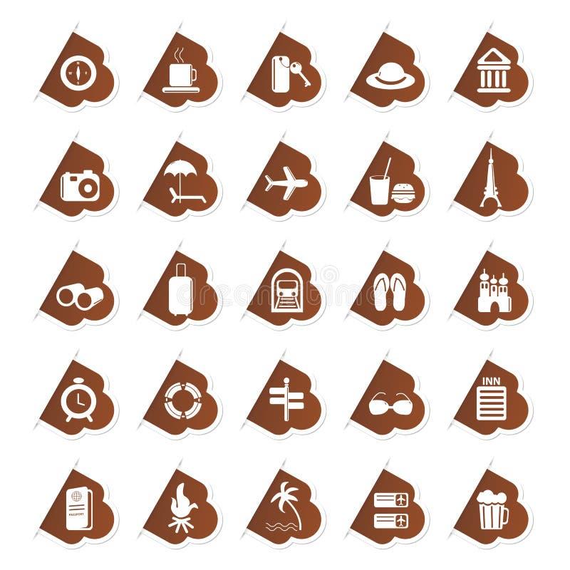 symbolsetikettslopp vektor illustrationer