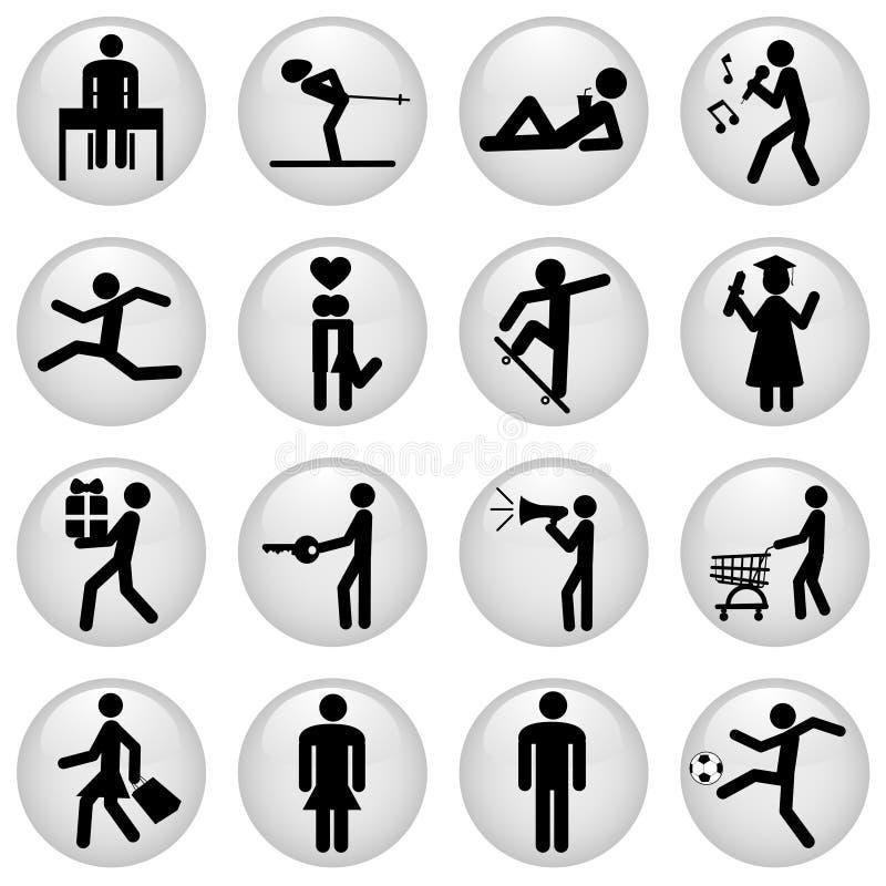 symbolsfolk stock illustrationer