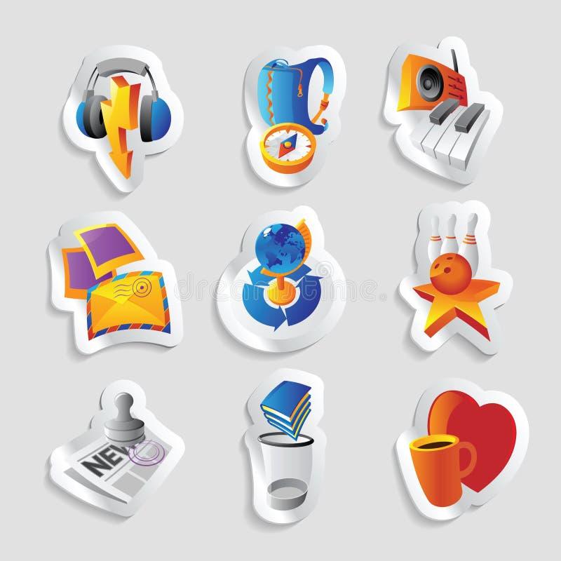 symbolsfritid stock illustrationer