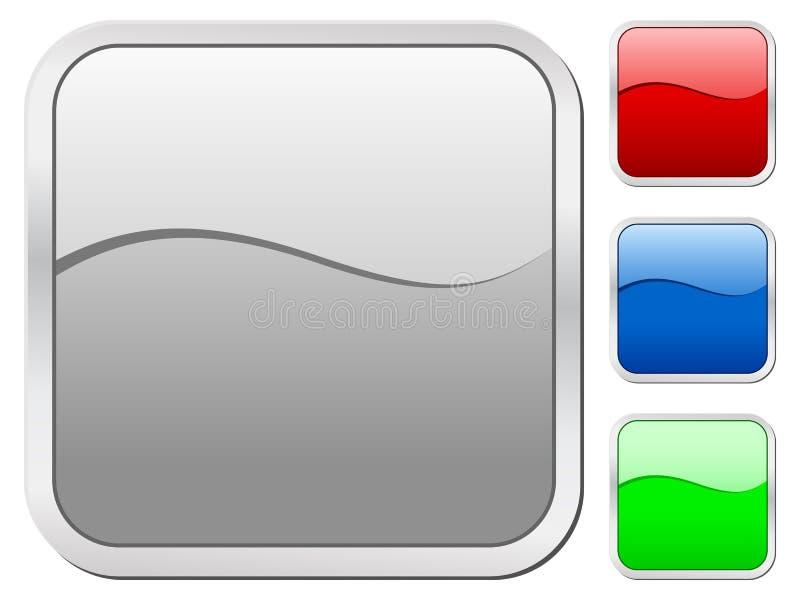 symbolsfyrkant vektor illustrationer