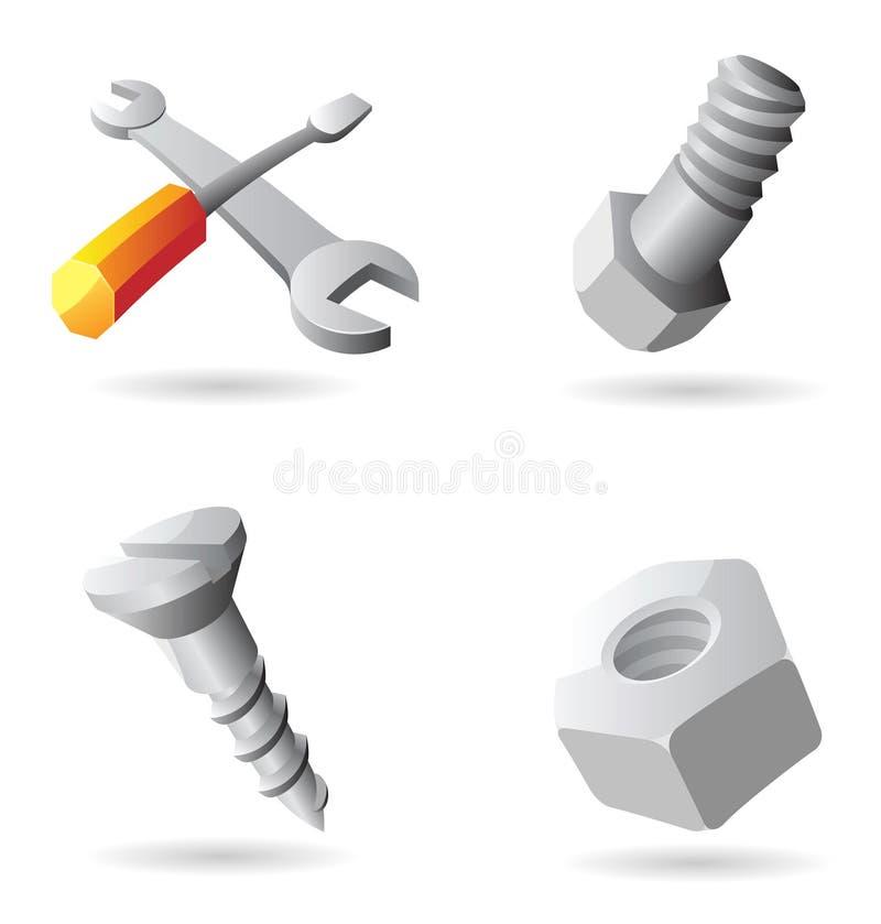 symbolshjälpmedel stock illustrationer
