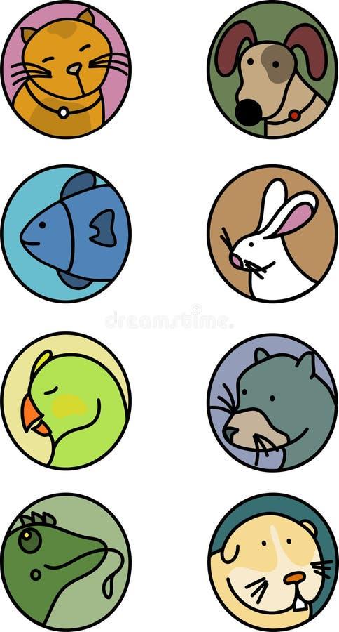 symbolshusdjur royaltyfria bilder