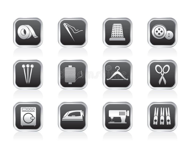 symbolsindustri objects textilen royaltyfri illustrationer