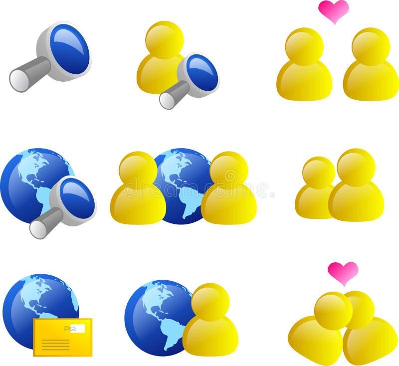 symbolsinternetrengöringsduk stock illustrationer
