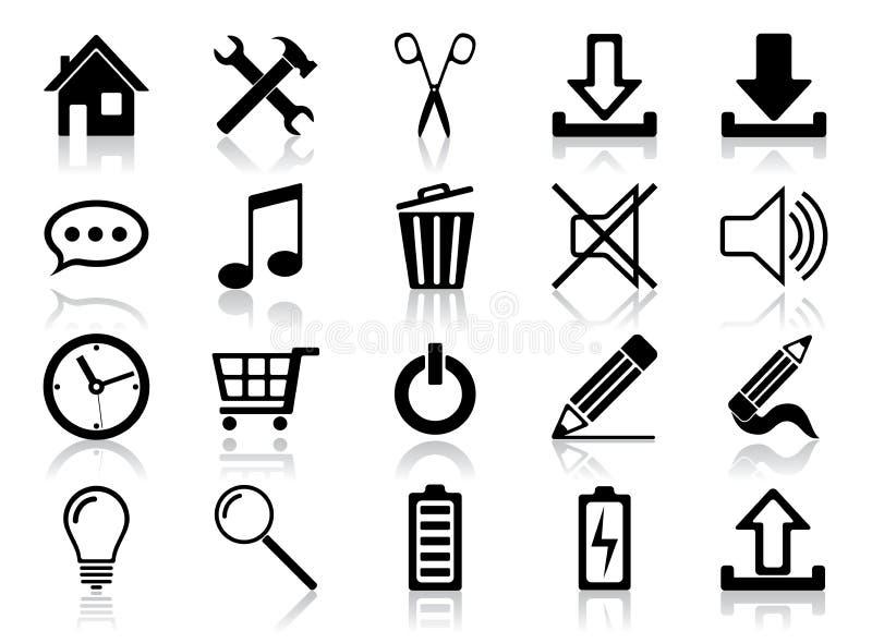 symbolsinternetset royaltyfri illustrationer