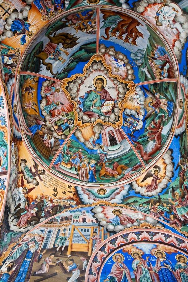 symbolsklosterrila royaltyfri foto
