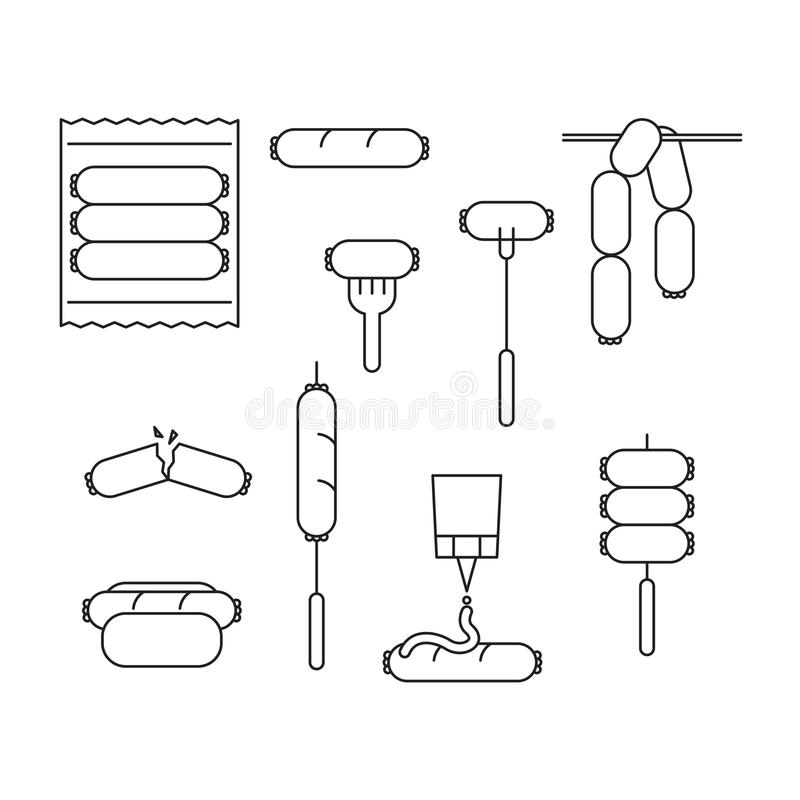 Symbolskorv, vektor vektor illustrationer