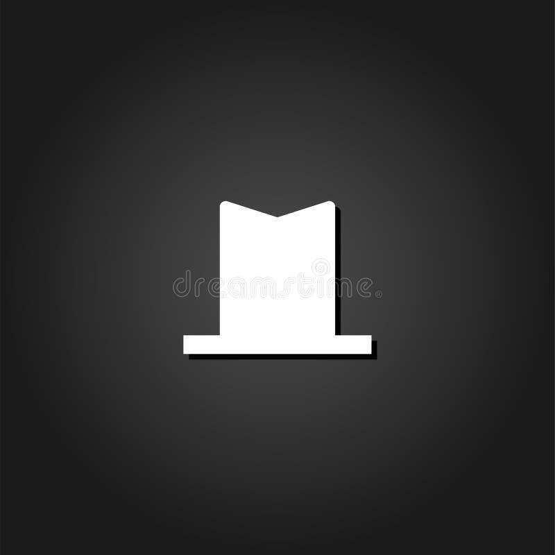 Symbolslägenhet för bästa hatt royaltyfri illustrationer