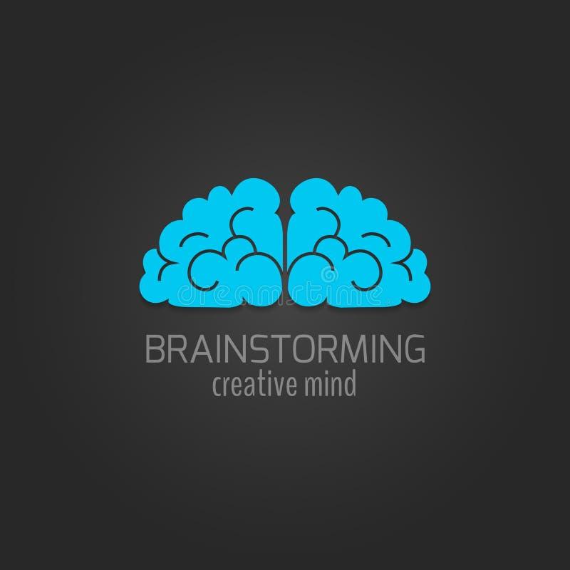 Symbolslägenhet för mänsklig hjärna stock illustrationer