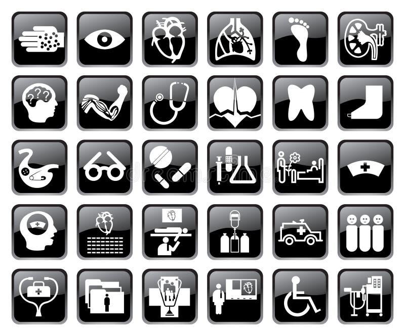 symbolsläkarundersökningvektor royaltyfri illustrationer