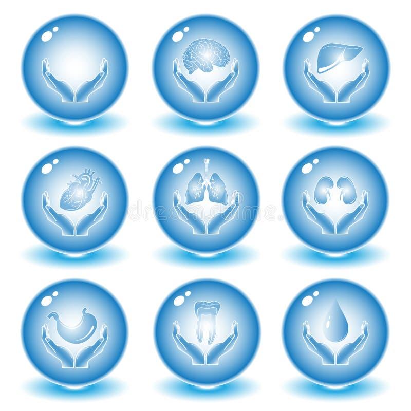 symbolsläkarundersökningvektor arkivbild