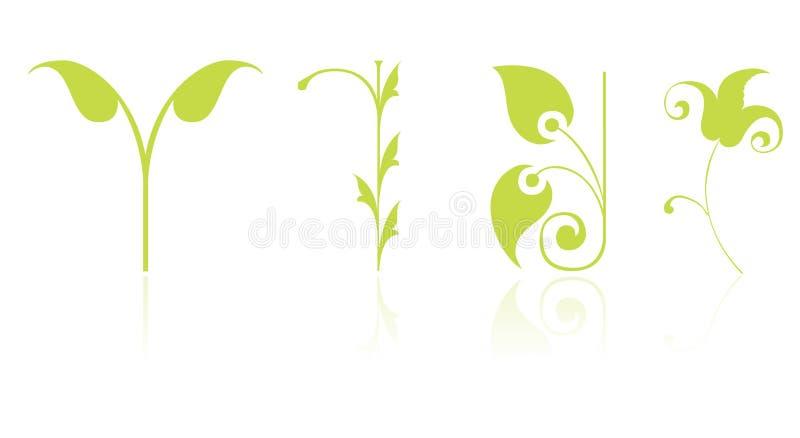 symbolsleaf stock illustrationer