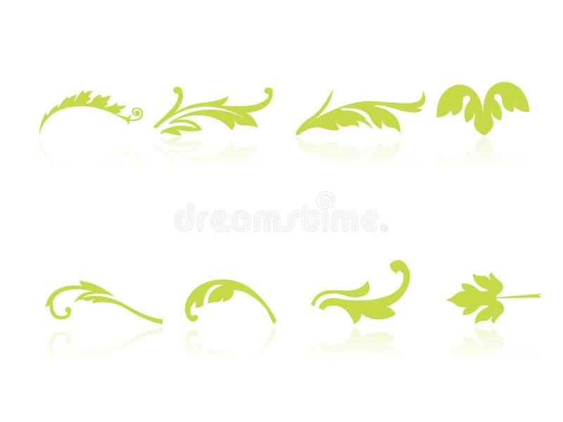 symbolsleaf royaltyfri illustrationer