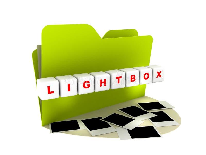 symbolslightbox vektor illustrationer