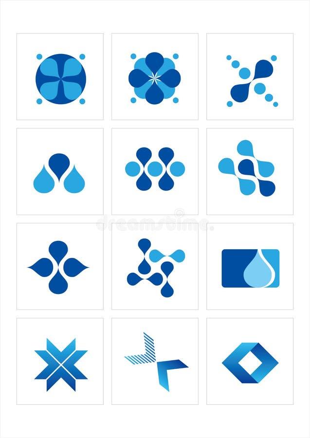 symbolslogo royaltyfri illustrationer