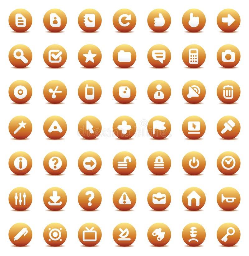symbolsmanöverenhetsvektor royaltyfri illustrationer