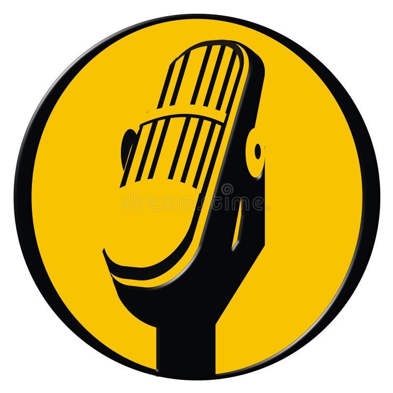 symbolsmikrofontappning stock illustrationer