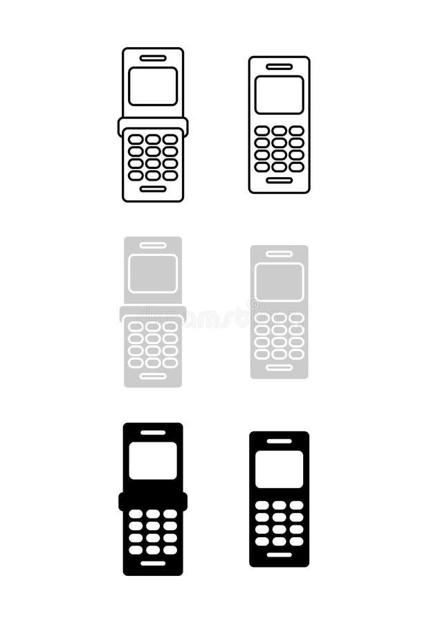 symbolsmobiltelefon fotografering för bildbyråer