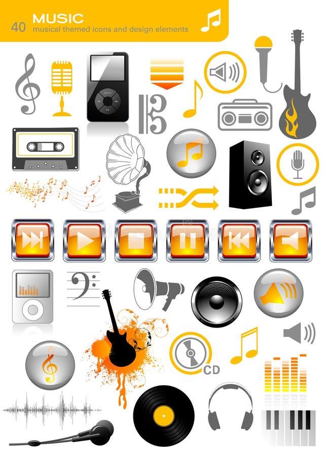 symbolsmusik vektor illustrationer