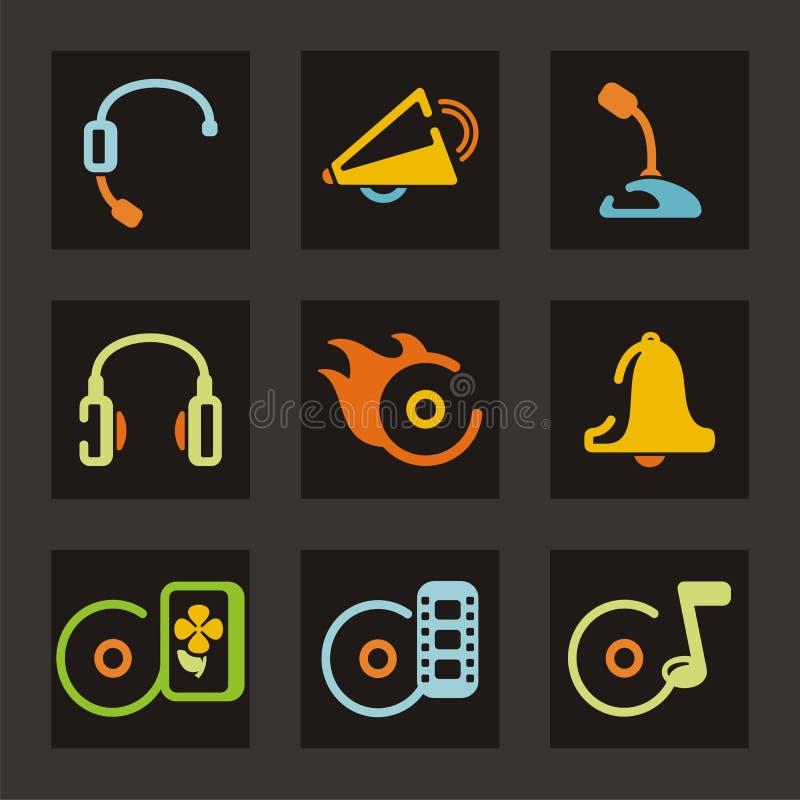 symbolsmusikljud royaltyfri illustrationer