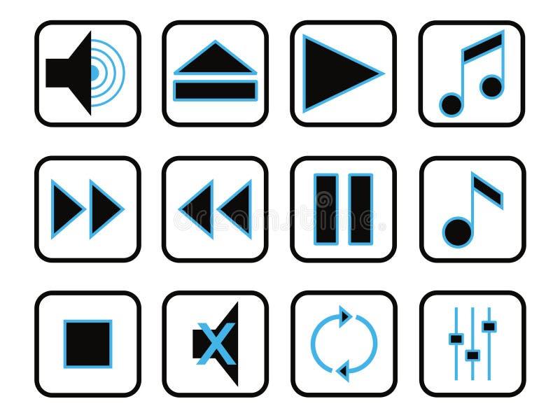 symbolsmusikset stock illustrationer