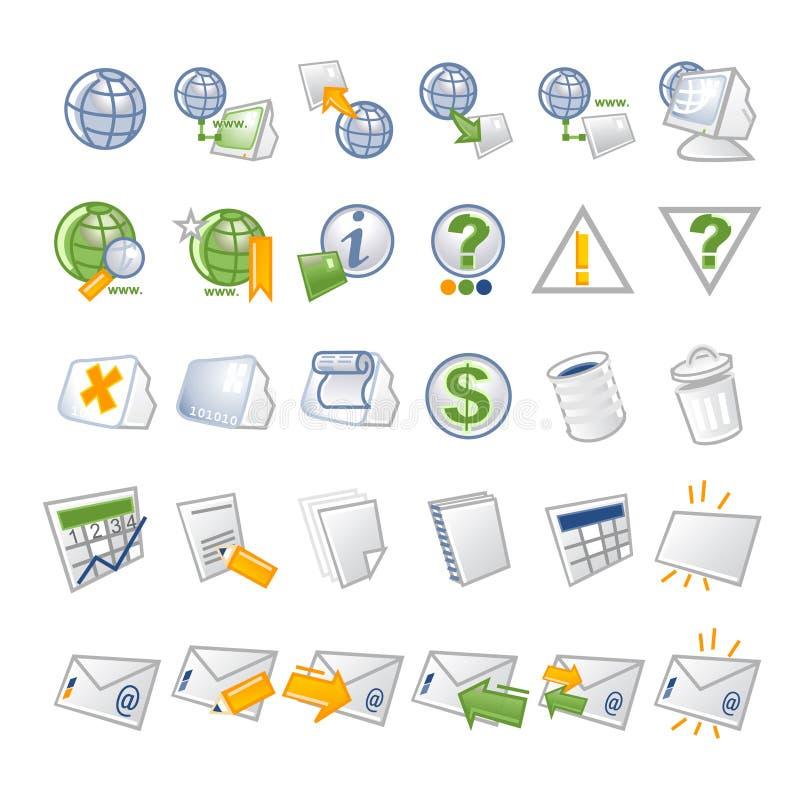 symbolsnätverk vektor illustrationer