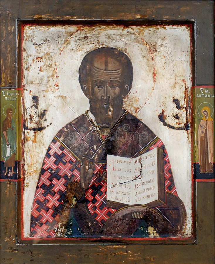 symbolsnicolas saint arkivbild
