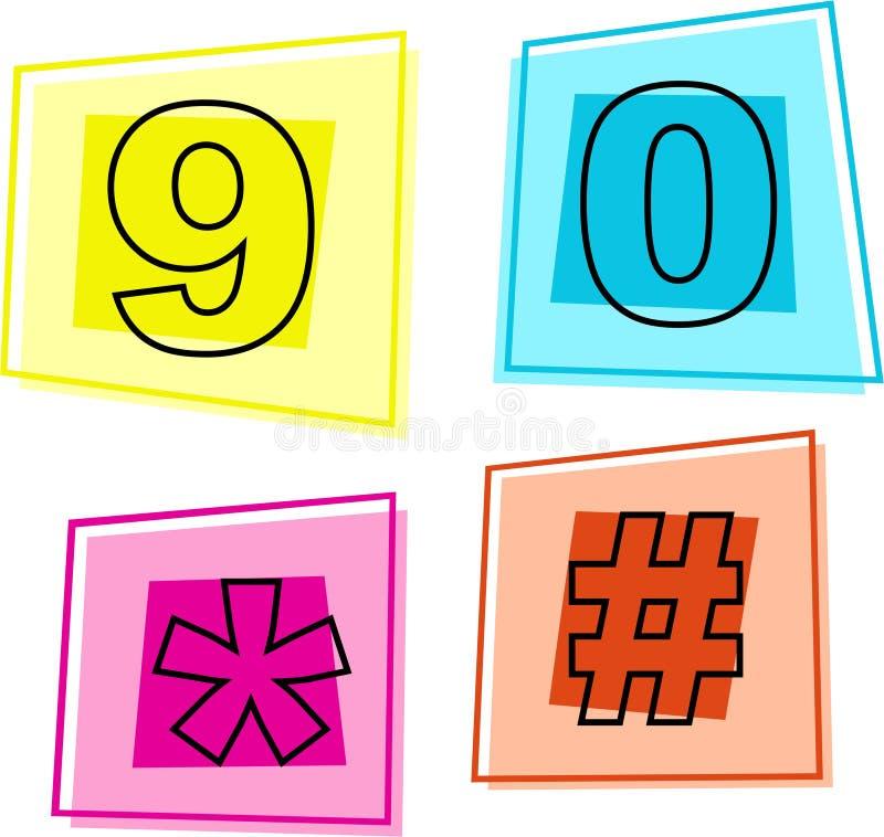 symbolsnummer stock illustrationer