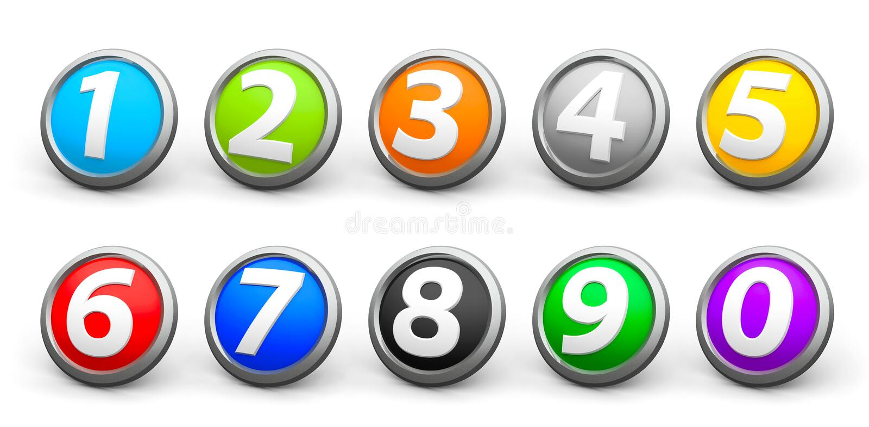 Symbolsnummeruppsättning 4 royaltyfri illustrationer