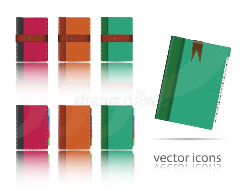 symbolsorganisatörset vektor illustrationer