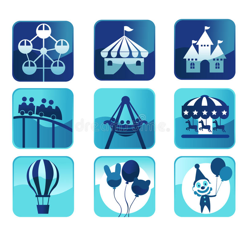 Symbolsparktema Royaltyfri Bild