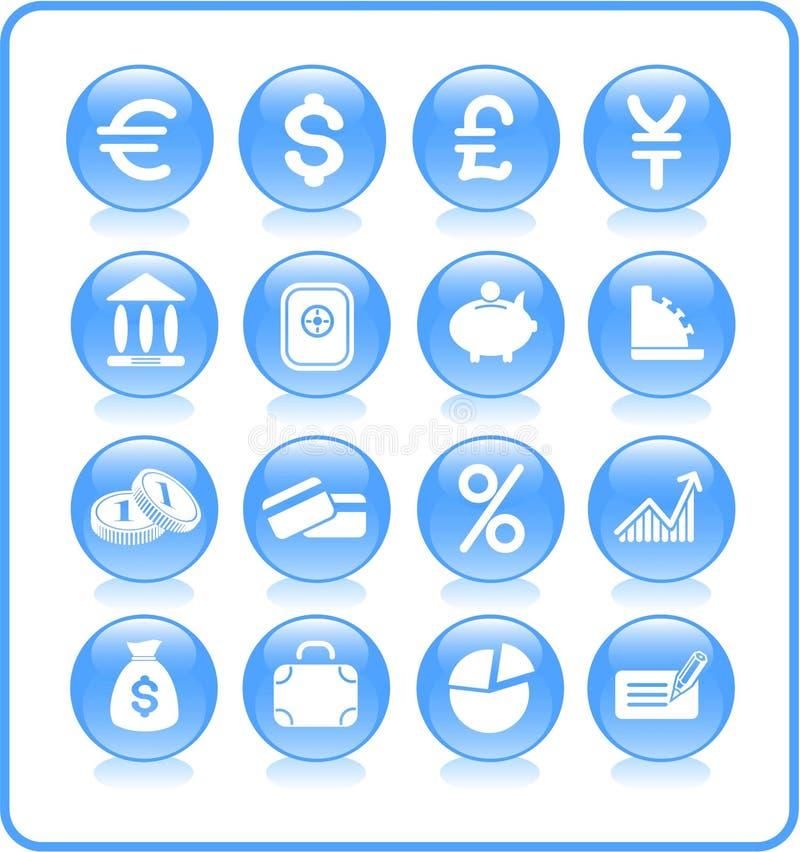 symbolspengar vektor illustrationer