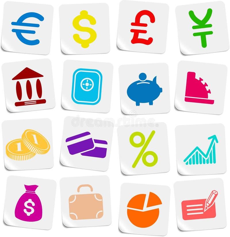 symbolspengar stock illustrationer