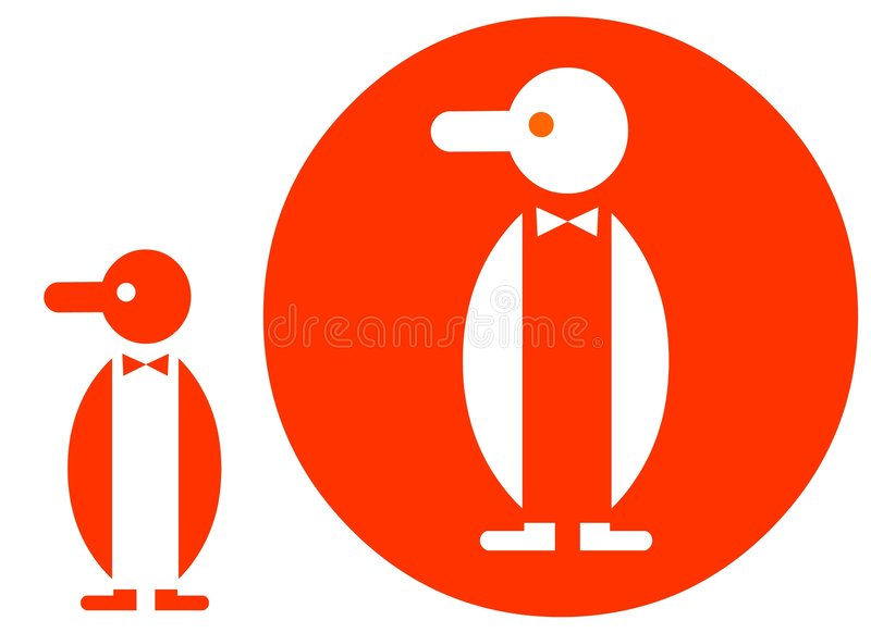 symbolspingvin stock illustrationer