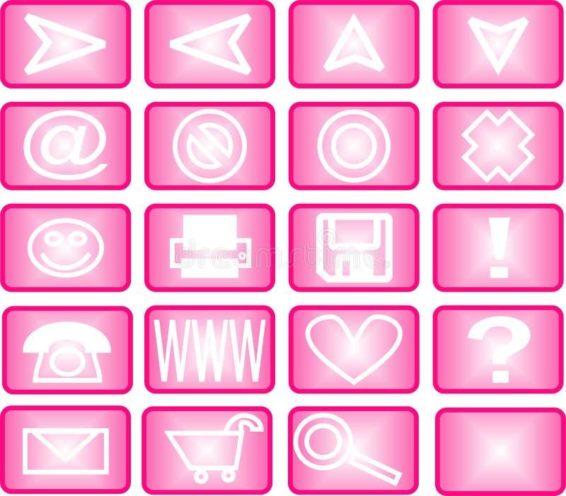symbolspinkset vektor illustrationer