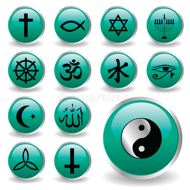 symbolsreligion stock illustrationer