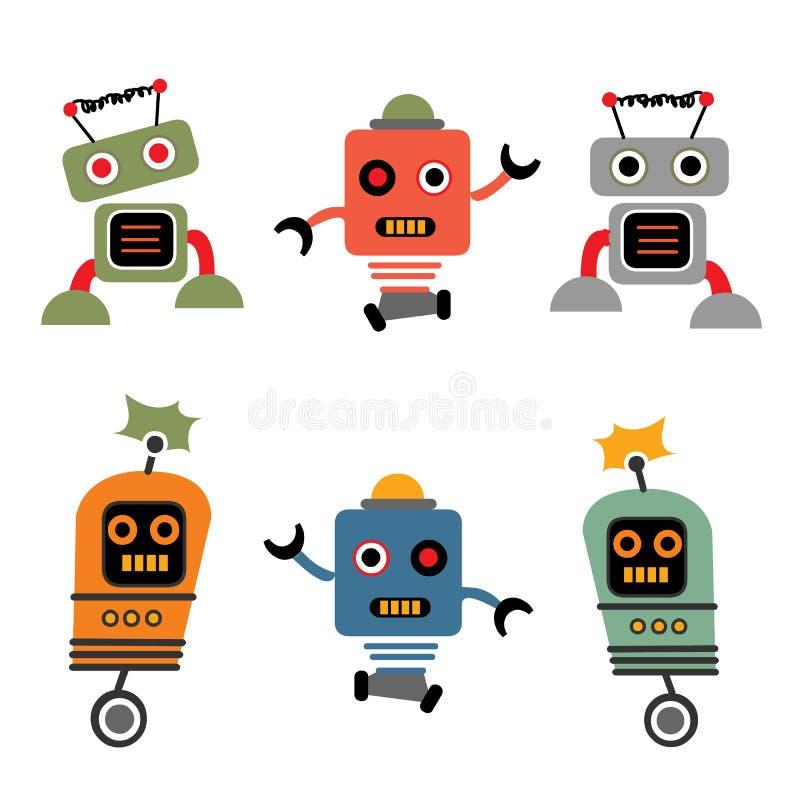 symbolsrobot royaltyfri illustrationer