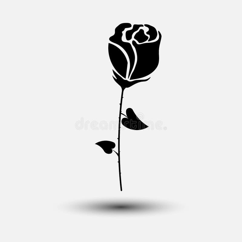 Symbolsros, blomma, garnering, gåvafavorit stock illustrationer