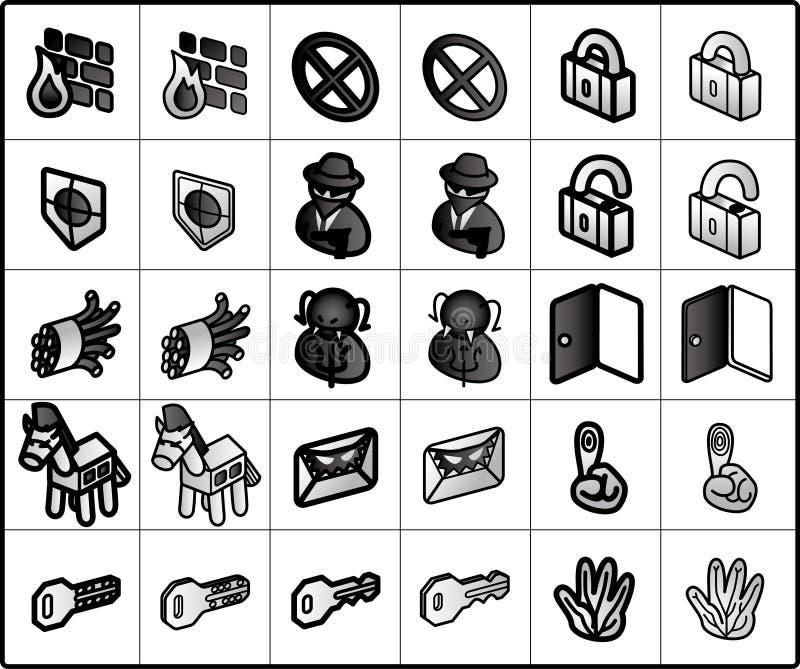 symbolssäkerhet vektor illustrationer