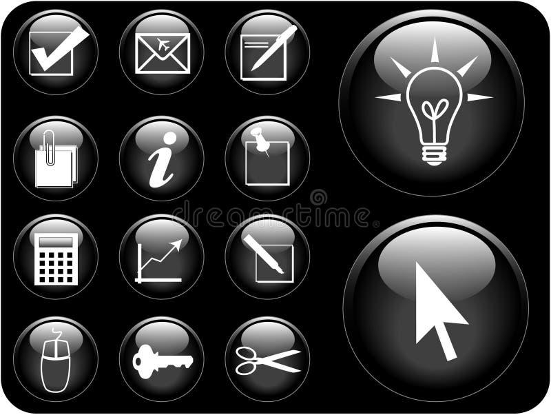 symbolsserievektor royaltyfri illustrationer