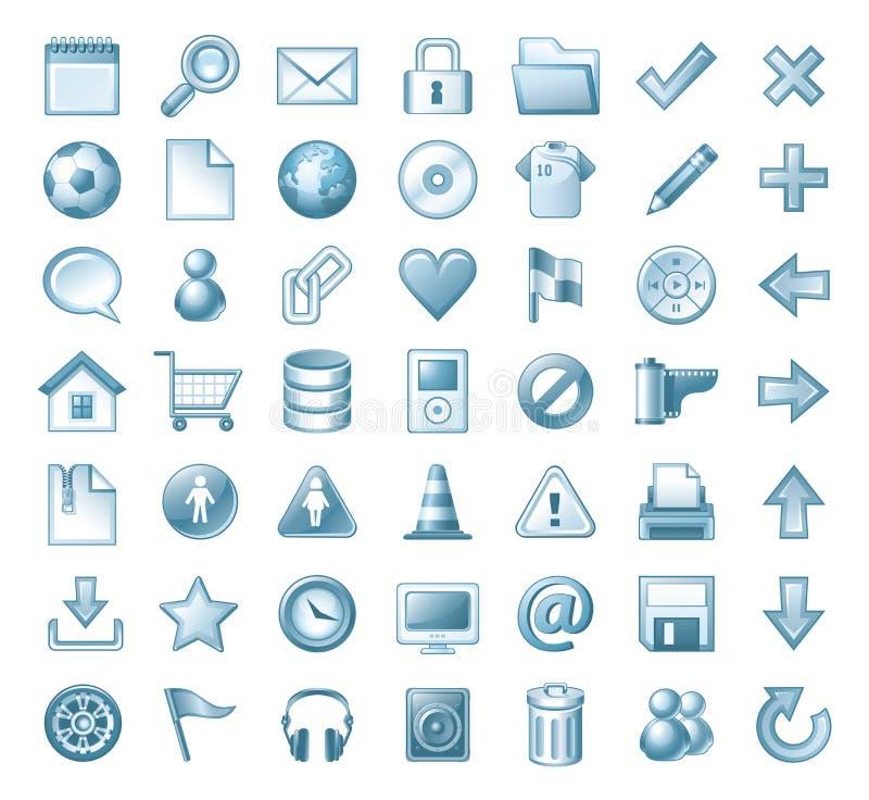 Symbolsset stock illustrationer
