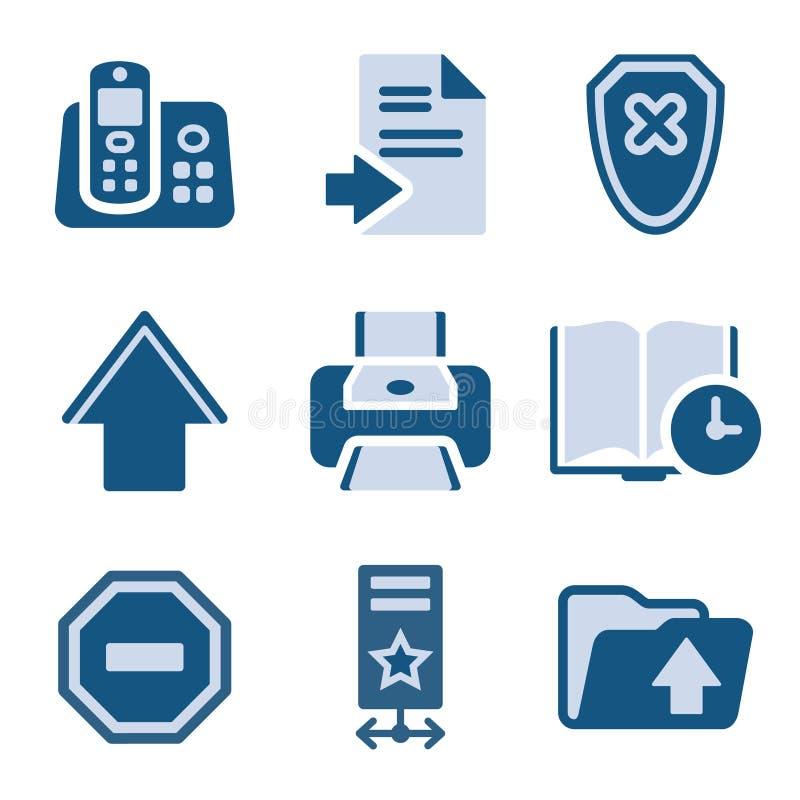 symbolsset för 4 blue vektor illustrationer