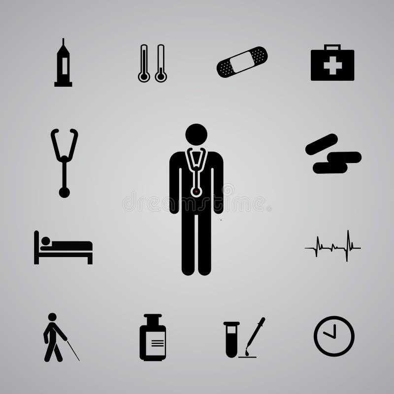 Symbolssjukhus set3 stock illustrationer
